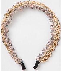 river island womens pink embellished chain headband
