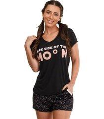 pijama short doll feminino moon luna cuore premium
