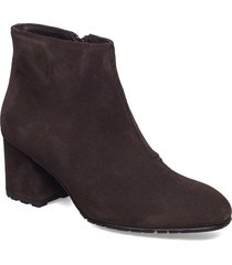 suede ankle boot shoes boots ankle boots ankle boot - heel brun ilse jacobsen