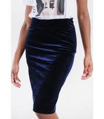 falda velvet  azul marino night concept