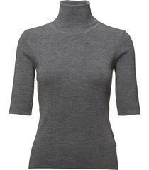 merino elbow sleeve top t-shirts & tops knitted t-shirts/tops grijs filippa k