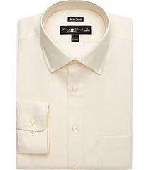 pronto uomo ecru queen's oxford non-iron dress shirt