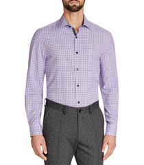 w.r.k trim fit performance dress shirt, size 19.5 - 36 in purple at nordstrom