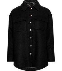 slftessa wool shirt jacket b wollen jack jack zwart selected femme