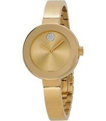 reloj  movado 3600201 dorado acero inoxidable