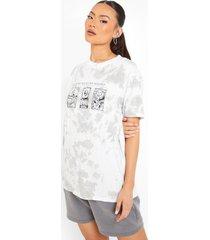 oversized tie dye t-shirt, light grey