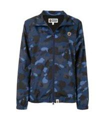 a bathing ape® jaqueta esportiva camuflada - azul