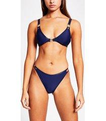 river island womens navy metallic trim high leg bikini bottoms