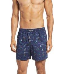 men's polo ralph lauren woven cotton boxers, size medium - blue