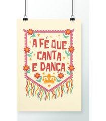 poster canta e dança