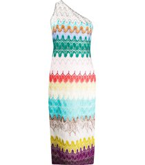 missoni woven stripe midi dress - blue
