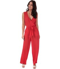 only nova lux wrap jumpsuit size 16 in red