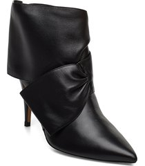 pomeline shoes boots ankle boots ankle boots with heel svart pura lopez