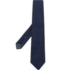 canali textured tie - blue