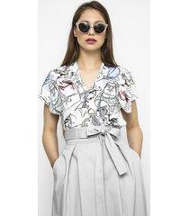 bluzka z kolorowym printem renata