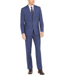 club room men's classic-fit micro-dot suit