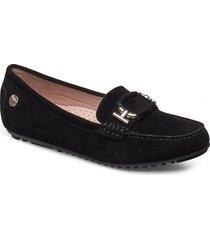 parma buckle loafers låga skor svart novita