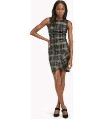 tommy hilfiger women's essential sleeveless plaid dress black - 12