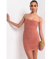 akira love me or hate me ruched thin strap mini dress