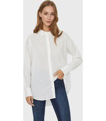blusa vero moda blanco - calce oversize