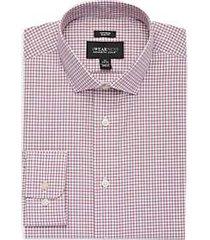 awearness kenneth cole burgundy check slim fit dress shirt