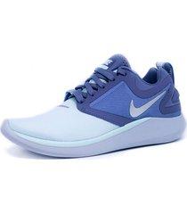zapato wmns nike lunarsolo azul-gris aa4080-404