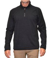 men's stretch microfleece quarter zip sweatshirt
