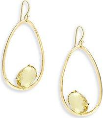 18k rock candy citrine large frame earrings