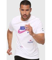 camiseta blanco-violeta-azul nike