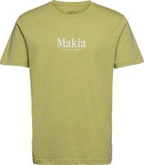 strait t-shirt t-shirts short-sleeved grön makia