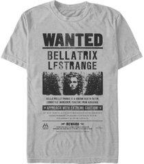 fifth sun harry potter men's bellatrix lestrange wanted poster short sleeve t-shirt