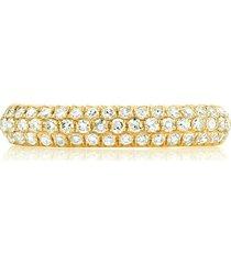 shay 18kt yellow gold diamond pavé single jumbo ear cuff
