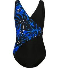 badpak maritim royal blue::zwart