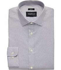 awearness kenneth cole gray print slim fit dress shirt
