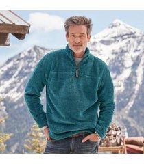 sundance catalog men's ideal pullover in aqua large