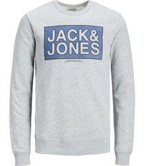 sweater jack & jones 12175554 jcotube sweat mix pack light grey melange
