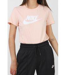 camiseta nike sportswear w nsw tee essntl ic rosa - kanui