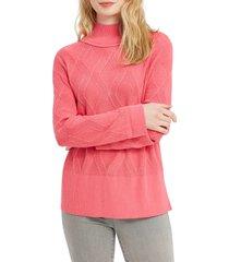 women's nic+zoe eternal turtleneck sweater, size x-small - pink