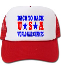 back to back world war champs usa hat/cap