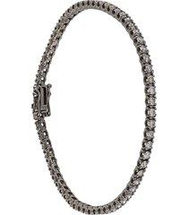 18kt white gold line bracelet
