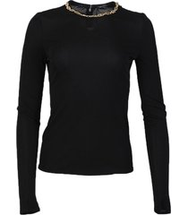 chain detail long-sleeve top