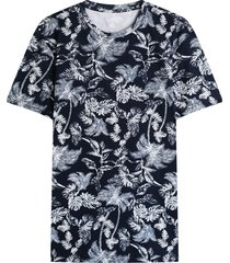 camiseta hombre hojas azules color azul, talla l