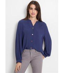 blouse met sierknopen