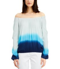 inc tie-dyed off-the-shoulder top, created for macy's