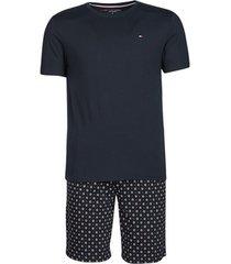 pyjama's / nachthemden tommy hilfiger cn ss short jersey set print