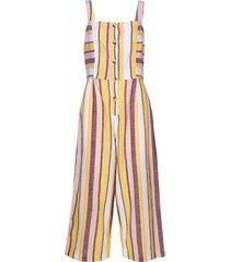 button up stripe jumpsuit beach wear multi/mönstrad seafolly