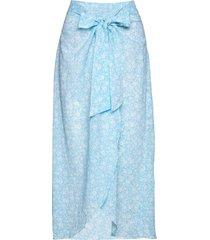 skirt beach wear blå ganni