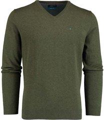 bos bright blue pullover v-hals olijf katoen 20305vi01bo/368 olive
