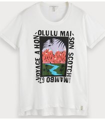 scotch & soda artwork t-shirt met ronde hals