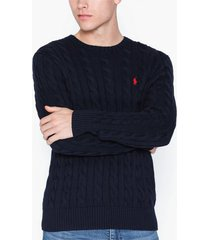 polo ralph lauren cotton cable sweater tröjor navy